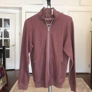 Tommy Bahama zip up cotton sweatshirt